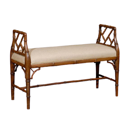Aimee French Double Bench with Stool