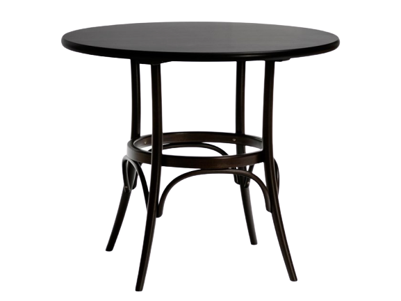 Aimee French Melton Round Dining Table, Black color