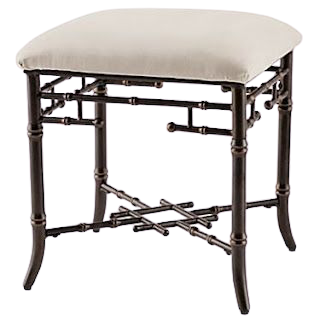 Aimee French Stool with Cushion