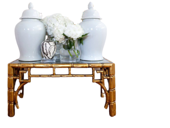 Aimee French Table with Glass Top