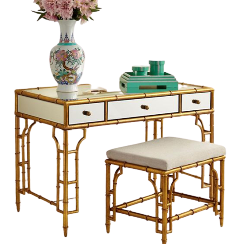 Aimee French Writing Desk with Stool