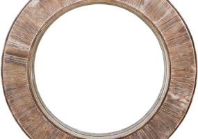 Barnyard Designer Round Decorative WallHanging Mirror Rustic, JD-4002
