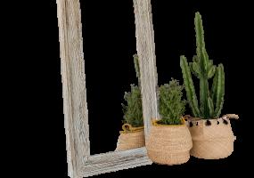 Barnyard Designs Large Decorative Wall Hanging Mirror Rustic Vintage , JD-4006