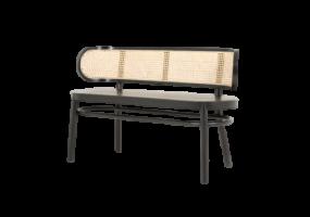 Cadenza  Natural Cane Wood  Bench, JD-2031