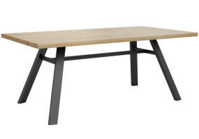 Heston Wood Steel A Leg Dining Table Leg, KTS-113L