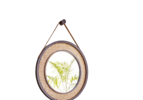 Ramos Natural Cane Mirror, JD-397