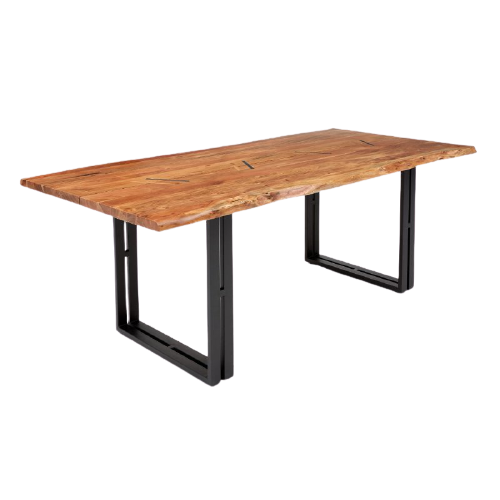 Brenda Solid Wood and Metal Dining Table