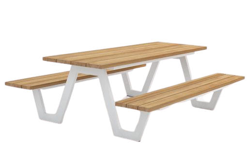 Picnic Modern Dining Table with Bench