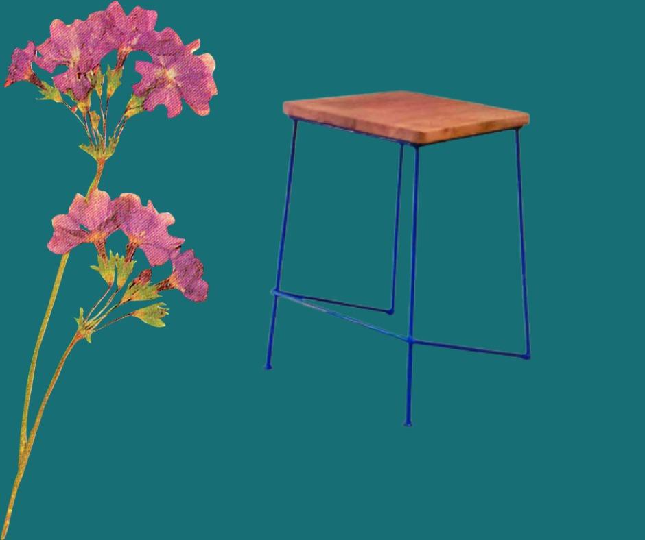 Vintage Stool (Blue)