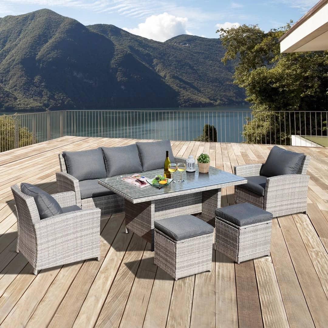 Bahijah Wicker Sofa Set